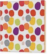 Colorful Confetti  Wood Print