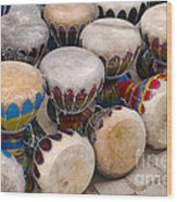 Colorful Congas Wood Print
