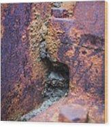 Colorful Corrosion 2 Wood Print