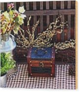 Colorful Country Still Life Wood Print