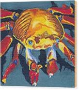 Colorful Crab Wood Print
