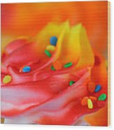 Colorful Cup Cake Wood Print