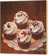 Colorful Cupcakes Wood Print
