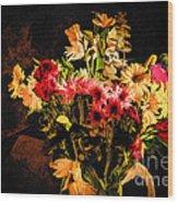 Colorful Cut Flowers - V3 Wood Print