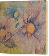 Colorful Daisies Wood Print