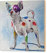 Colorful Dalmatian Chihuahua Wood Print