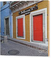 Colorful Doors Guanajuato Mexico Wood Print