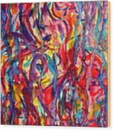 Colorful Expression-6 Wood Print