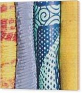 Colorful Fabrics Wood Print