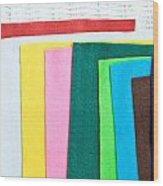 Colorful Felt Wood Print