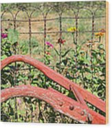 Colorful Fence Row Wood Print