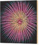 Colorful Fireworks Wood Print