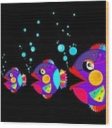 Colorful Fish Creation Wood Print