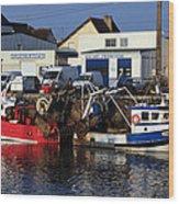 Colorful Fishing Boats Wood Print