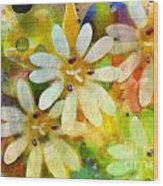 Colorful Floral Abstract I Wood Print