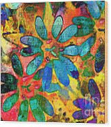 Colorful Floral Abstract IIi Wood Print