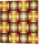 Colorful Geometric Collage Wood Print