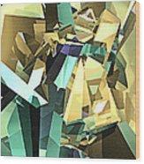 Colorful Geometric Shapes Wood Print