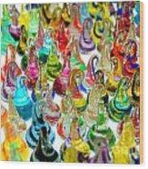 Colorful Glass Drops Wood Print