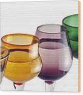 Colorful Glasses In A Row Wood Print