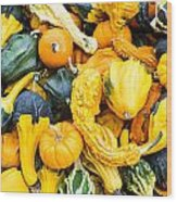 Colorful Gourds  Wood Print