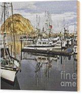 Colorful Harbor II Impasto Wood Print