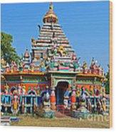Colorful Hindu Temple Wood Print