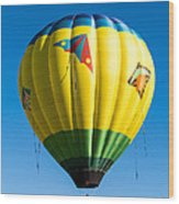 Colorful Hot Air Balloon Over Vermont Wood Print