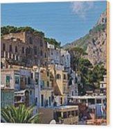 Colorful Houses In Capri Wood Print