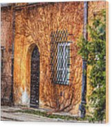 Colorful Houses In Warsaw Wood Print