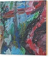 Colorful Impressionism Wood Print