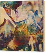 Colorful Iris Watercolor Wood Print