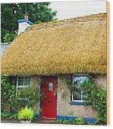 Colorful Irish Cottage Wood Print