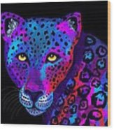 Colorful Jaguar Wood Print