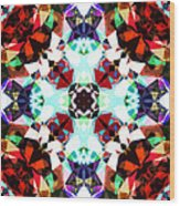 Colorful Kaleidoscope Creation Wood Print
