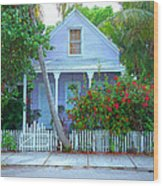 Colorful Key West Cottage Wood Print