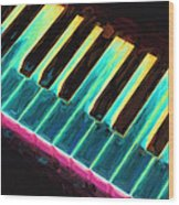 Colorful Keys Wood Print