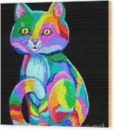 Colorful Kitten Wood Print