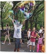 Colorful Large Bubbles Wood Print