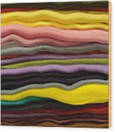 Colorful Layers Wood Print