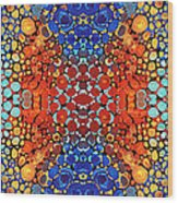Colorful Layers Vertical - Abstract Art By Sharon Cummings Wood Print by Sharon Cummings