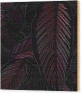 Colorful Leaves Wood Print