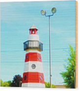 Colorful Lighthouse 2 Wood Print