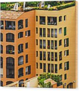 Colorful Living In Monaco Wood Print
