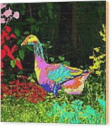Colorful Lucy Goosey Wood Print