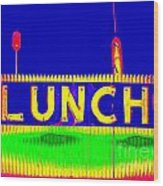 Colorful Lunch Wood Print