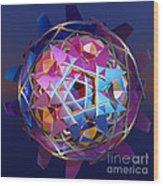 Colorful Metallic Orb Wood Print