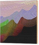 Colorful Mountain Range Wood Print