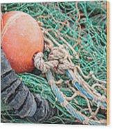 Colorful Nautical Rope Wood Print