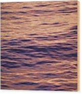 Colorful Ocean Water At Sunset Wood Print